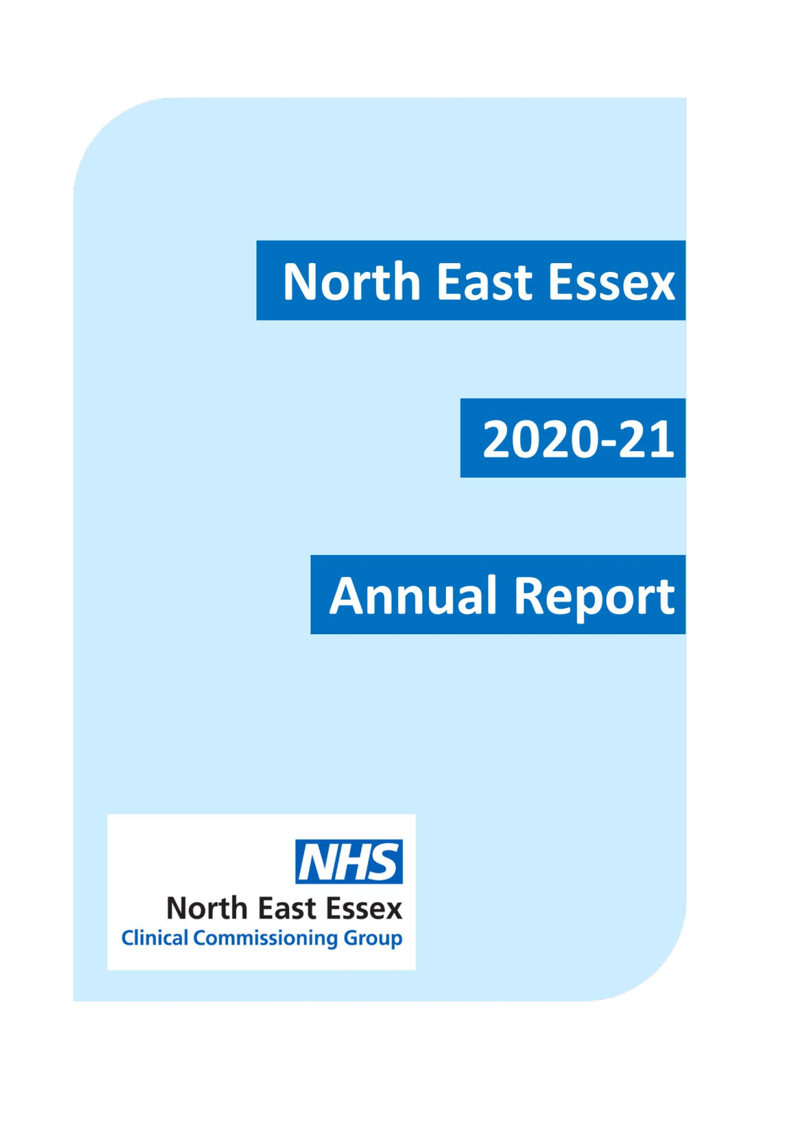 front cover of the 20/21 Annual Report