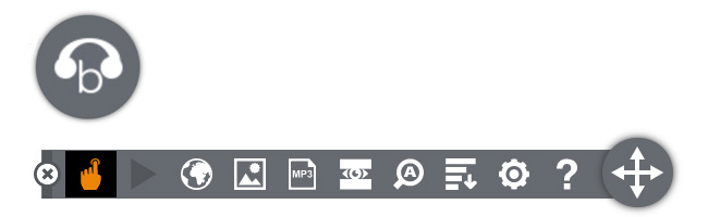 Browsealoud icon and toolbar