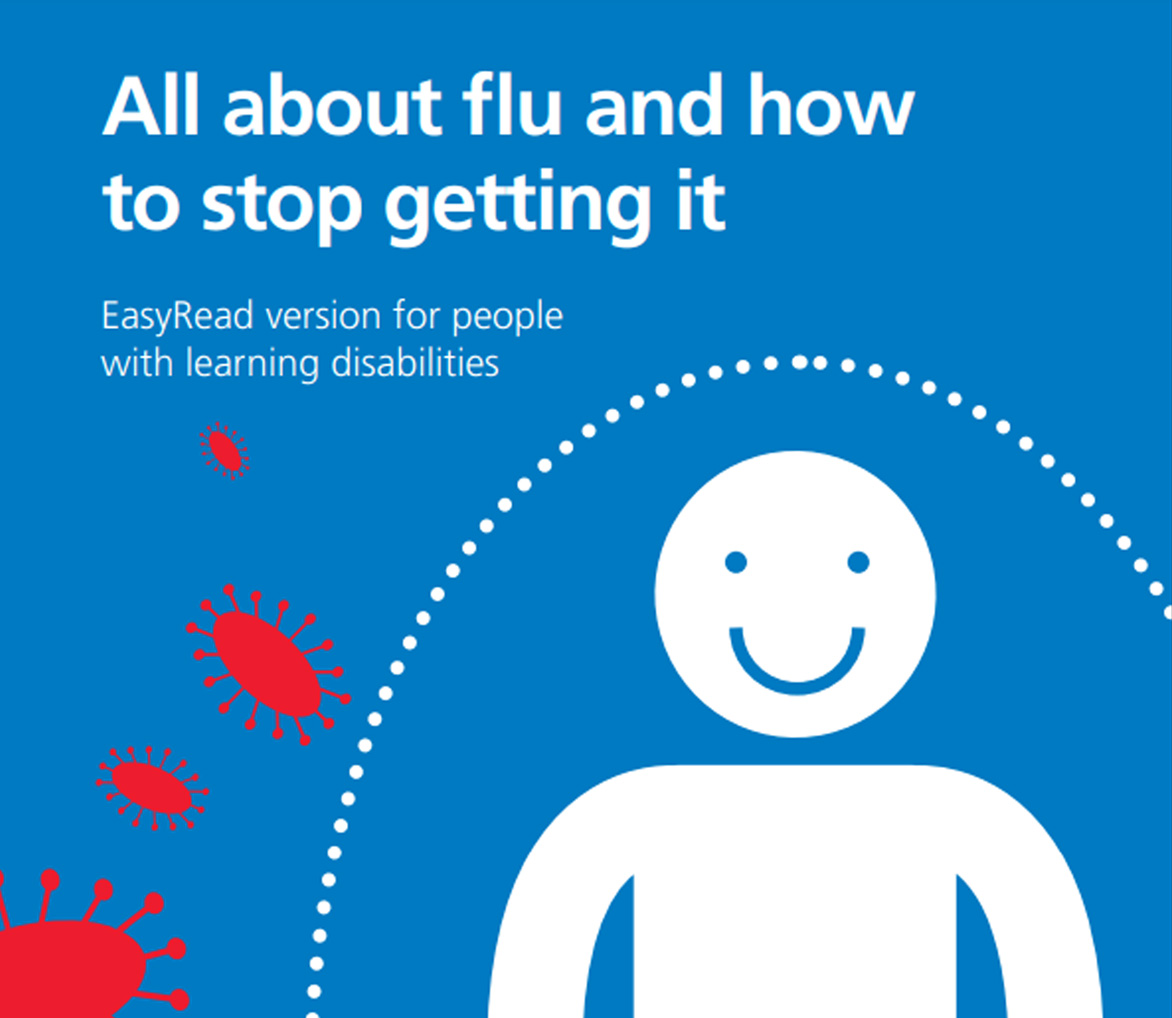 the front cover of the Easy Read Guide to the Flu Jab