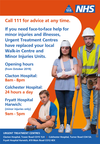 Urgent Treatment Centre A4 poster thumbnail